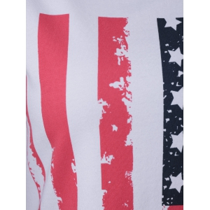 Patriotic American Flag Mini T Shirt Dress -