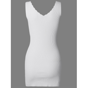 Pure Color Knitted Bodycon Dress -