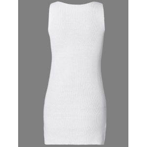 Solid Color Knitted Tank Dress -