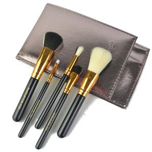 Stylish 5 Pcs Artificial Fiber Face Eye Makeup Brushes Set with Brush Package -