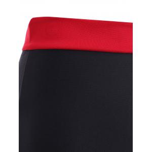 Fashionable Spliced Color Block Furcal Skinny Women's Skirt -