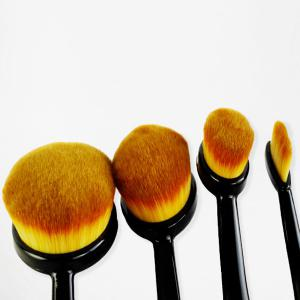 5 Pcs Oval Toothbrush Shape Fiber Makeup Brushes Set with Brush Package -