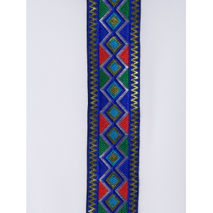 Ethnic Style Slimming Scoop Neck Stitching Blouse For Women -