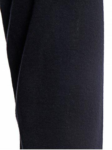 Chic Sexy Turtleneck Long Sleeve Black Hollow Out Women's Bodycon Dress - M BLACK Mobile