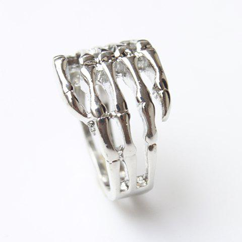 New Vintage Skull Hand Ring - ONE SIZE SILVER Mobile