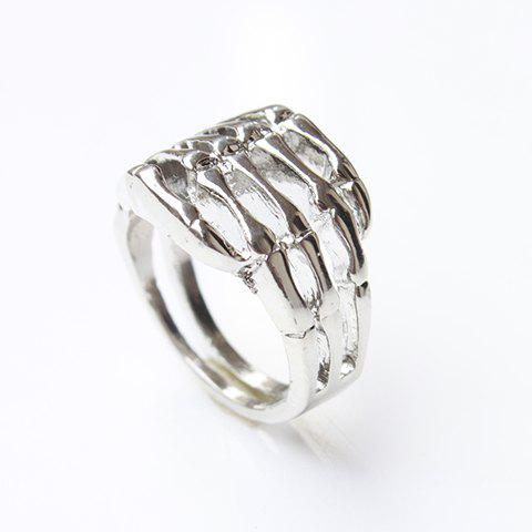 Latest Vintage Skull Hand Ring - ONE SIZE SILVER Mobile