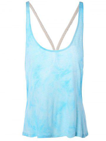 Best Stylish Backless Tie Dye Spaghetti Strap Top For Women