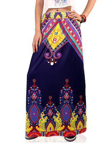 Outfits Ethnic Style High Waist Paisley Pattern Skirt For Women