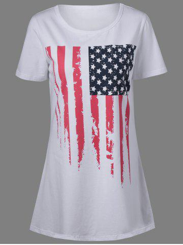 Fancy Patriotic American Flag Mini T Shirt Dress