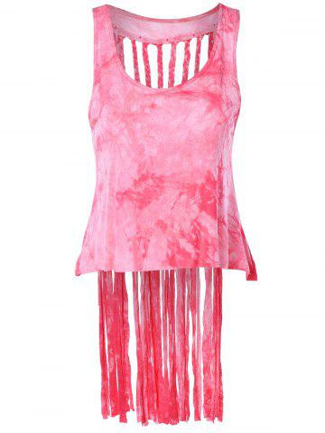 Chic Stylish Scoop Neck Fringe Weave Tank Top For Women