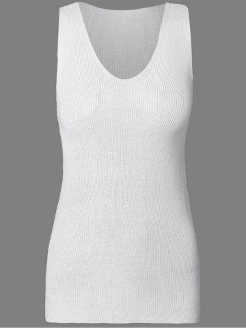 Shops Solid Color Knitted Tank Dress