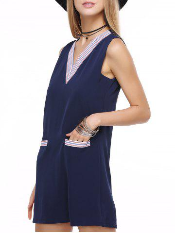 Sale The Cute Look Front Pocket Striped Dress