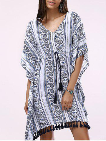 Shop Batwing V-Neck Casual Short Flowy Dress
