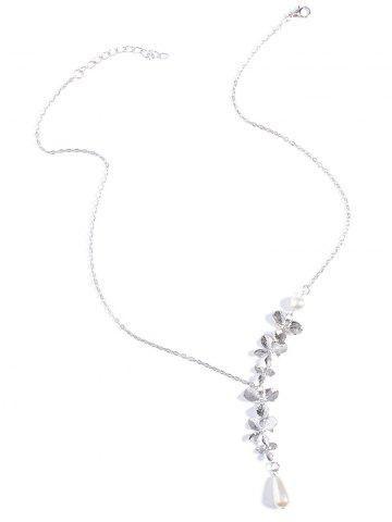 Best Orchids Faux Pearl Necklace SILVER