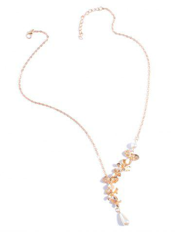 Latest Orchids Faux Pearl Necklace
