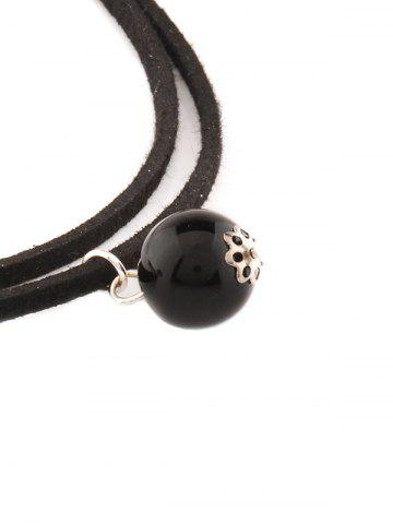 Shop Faux Pearl Layered Necklace - BLACK  Mobile