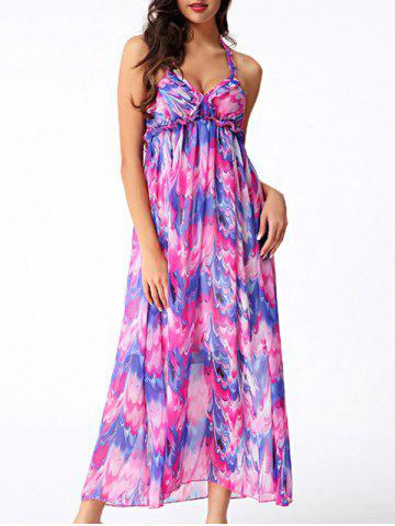 Affordable Elegant Women's Convertible Straps Printed Maxi Dress