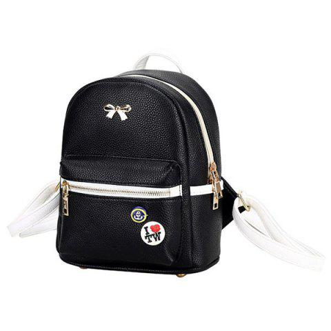 Latest Trendy Zippers and Bow Design Backpack For Women