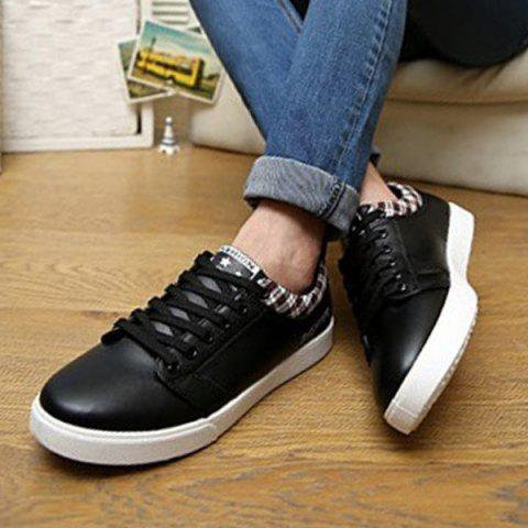 Fashion Fashion Letter and Lace-Up Design Athletic Shoes For Men - 44 BLACK Mobile