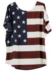 Distressed American Flag Short Sleeve T-Shirt