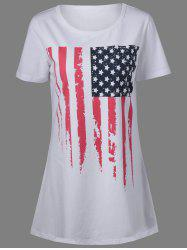 Patriotic American Flag Mini T Shirt Dress
