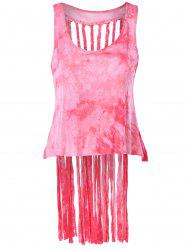 Stylish Scoop Neck Fringe Weave Tank Top For Women -