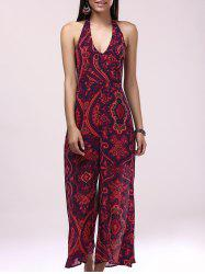 Bohemian Wide Leg Summer Halter Jumpsuit - COLORMIX