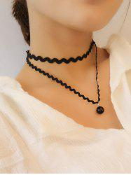 Layered Wave Chokers Necklace -