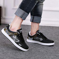 Fashion Print and Lace-Up Design Athletic Shoes For Men -