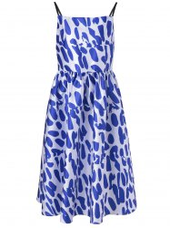 Fashionable Spaghetti Strap Loose-Fitting Dress With Printing For Women