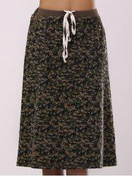 Fashionable Camo Printing Pocket Skirt For Women - COLORMIX XL