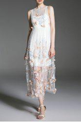 Sheer Butterfly Maxi Dress With Cami Dress -