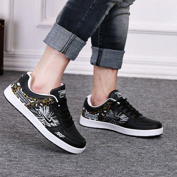 Outfits Fashion Print and Lace-Up Design Athletic Shoes For Men