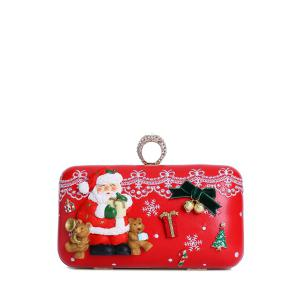 Christmas Metal Trimmed Evening Bag