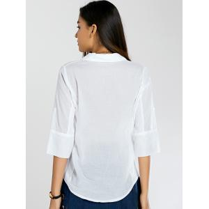 Half Sleeve Double Pockets Fitted Shirt -