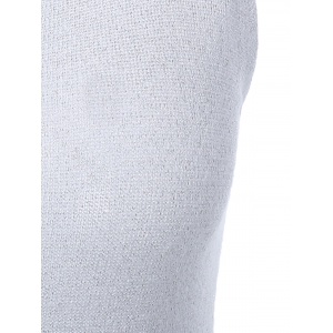 V-Neck Pure Color Knitted Tank Top -