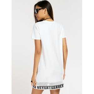 Casual Letter Printed T-Shirt Dress For Women -