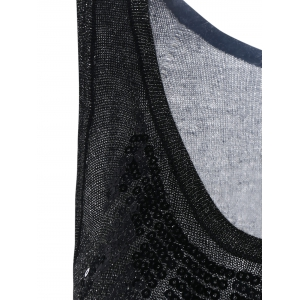 Sequin Embellished Knitted Tank Top -