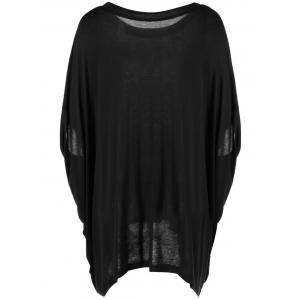 Simple Print RoundNeck Short Sleeves Top For Women -
