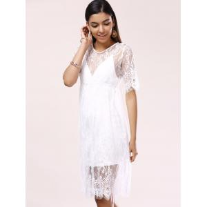 See-Through Lace Cover-Up Dress -