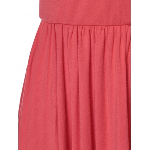 Fashionable Spaghetti Strap Backless Flounce Romper For Women - WATERMELON RED XL