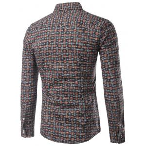 Slimming Swallow Gird Long Sleeve Shirt For Men -