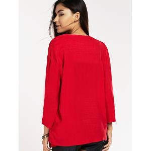 Ninth Sleeve Turn Collar Red -