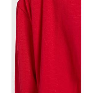 Ninth Sleeve Turn Collar Red - RED L