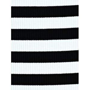 Stylish Flare Sleeve Striped Women's Knitted T-Shirt -