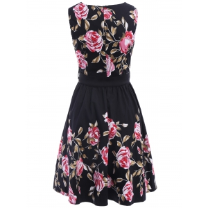 Floral Print Pin Up Dress -