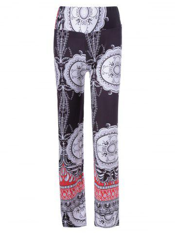 Best Ethnic Multi Pattern Print Elastic Waist Pants For Women
