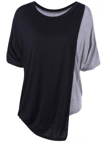 Store Simple Color Block Round Neck Top For Women