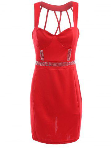 Online Backless Sweetheart Neckline Bodycon Party Dress