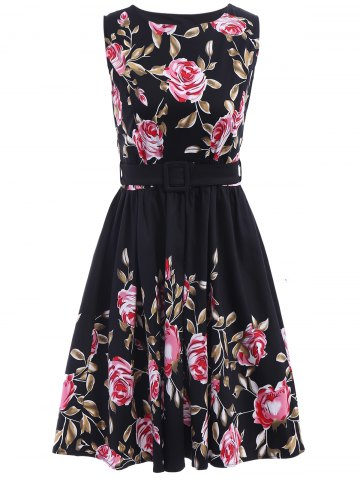 Latest Floral Print Pin Up Dress